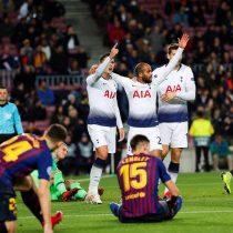 Vidal fue suplente en el empate de Barcelona ante el Tottenham