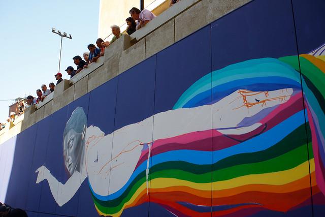 Ahora el Paseo Bandera colorea gran parte del centro santiaguino