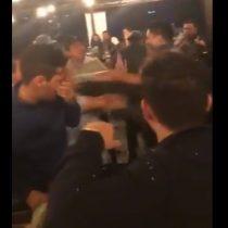Los argentinos no aprenden: video muestra pelea en Madrid de hinchas de River Plate y Boca Juniors