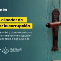 Ciudadano Inteligente y El Mostrador lanzan plataforma para que la ciudadanía denuncie la corrupción de manera anónima y segura
