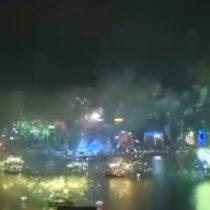 Año Nuevo en el mundo: el espectacular show pirotécnico en Hong Kong