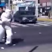 El video que muestra en directo la detención de supuestos manifestantes por la causa mapuche
