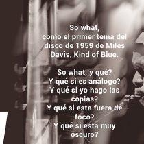 """Exposición fotográfica sobre el Jazz """"So What"""" en La Serena"""