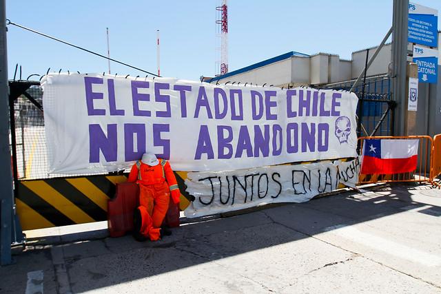 TPS y trabajadores movilizados se reúnen por primera vez en medio del paro en el puerto de Valparaíso