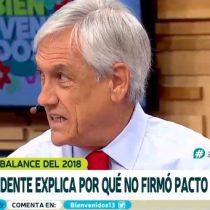 Sebastián Piñera cuenta por qué no firmó el Pacto Migratorio de la ONU
