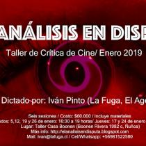 Taller de Cine con crítico y docente Iván Pinto en Casa Boonen