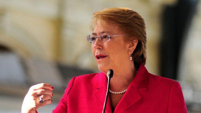 Bachelet es reconocida como una de las 100 líderes actuales del mundo