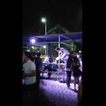 Fiesta de año nuevo en el Movistar Arena terminó con saqueo a barras e intervención de Carabineros