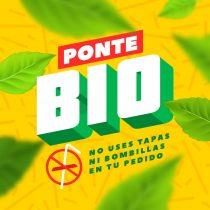 """Cadena de comida rápida lanza campaña """"Ponte Bio"""" para eliminar bombillas en sus locales"""