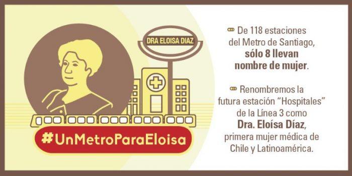 ¿La estación de metro Hospitales debiera renombrarse como Dra. Eloísa Díaz?