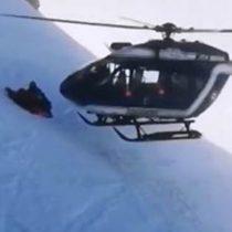 El extraordinario rescate en helicóptero de un esquiador herido en los Alpes franceses