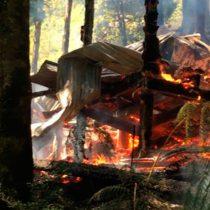 Vacaciones de Piñera son interrumpidas por incendio forestal en Lago Caburgua