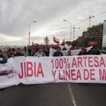 Pescadores artesanales protestan en Valparaíso ante propuesta de prórroga para la entrada en vigencia de la Ley de la Jibia