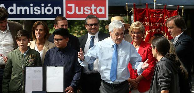 Piñera valora proyecto de Admisión Justa horas antes de ser sometido a votación en el Congreso