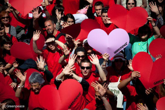 Greenpeace por el Día de los Enamorados: