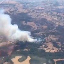 Sobrevuelo por La Araucanía muestra magnitud de incendios forestales