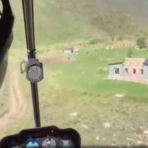 Helicóptero se estrella en Mendoza y el impacto fue grabado