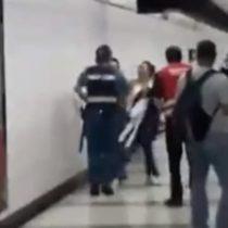 Pareja que agredió a guardia del Metro fue formalizada