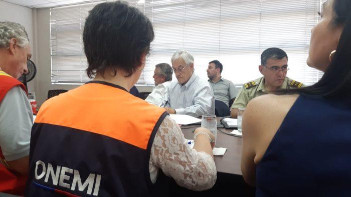 """Piñera promete Ley de Seguridad del Estado por incendios en La Araucanía: """"Perseguiremos a los culpables hasta el fin del mundo"""""""