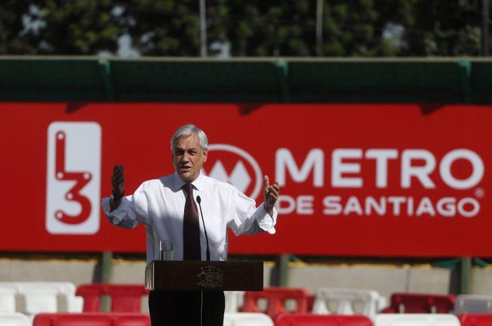 Piñera dio inicio a las obras de extensión de la línea 3 hasta el centro cívico de Quilicura