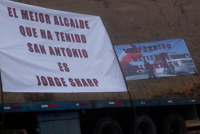 Sharp se defiende y apunta a negligencia del Gobierno por conflicto con camioneros que cortaron la ruta 68