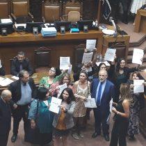 Bancada Feminista irrumpe en el Senado para solicitar avances en leyes fundamentales para las mujeres