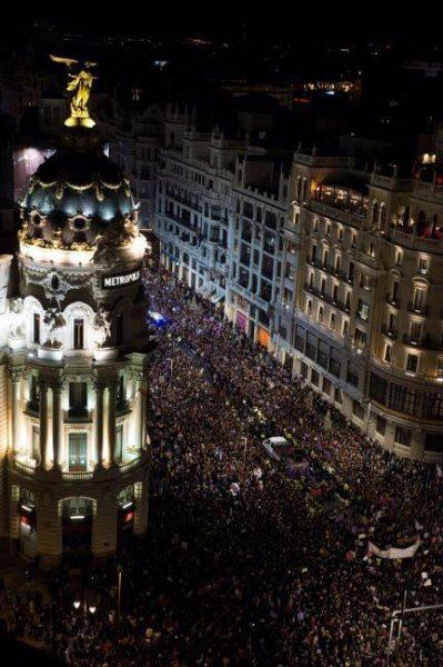Alta convocatoria destacó en marcha del 8M en Madrid