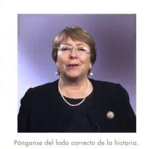"""""""Pónganse del lado correcto de la historia"""": las palabras de Michelle Bachelet en el Día de la Mujer trabajadora"""