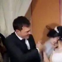 Repudio mundial por golpiza de hombre a su esposa en plena celebración de la boda