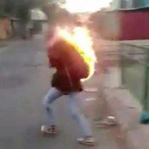 Detienen a tres personas que prendieron fuego a una mujer tras asaltarla