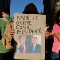 Las calles de Santiago se llenaron de descontento por presencia Bolsonaro y cita Prosur