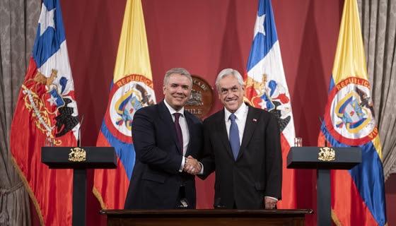 Presidentes de Chile y Colombia firman acuerdos de cooperación en diversas materias