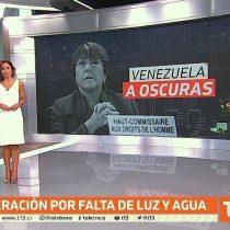 Canal 13 emite aclaración ante error en gráfica sobre Bachelet en Venezuela: acusa