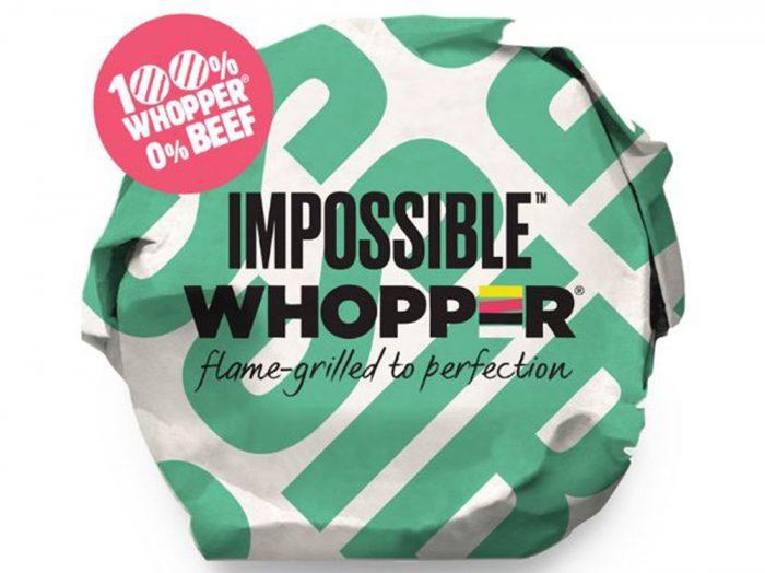 Burger King prueba la carne vegetal con Impossible Whooper