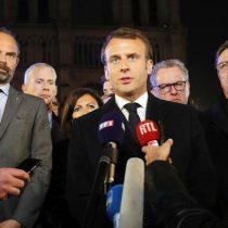 Macron iba a anunciar bajadas de impuestos cuando ardió Notre Dame