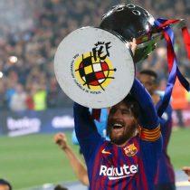 Messi proclama al Barcelona campeón de la liga española