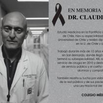 Pesar en redes sociales por muerte del doctor Claudio Mora, uno de los impulsores de la Ley Nacional del Cáncer