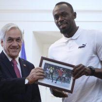 El meme que Piñera lució ante Usain Bolt