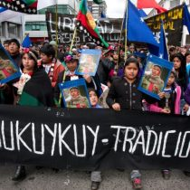 Mapuche golpean a carabineros tras marcha no autorizada en Temuco