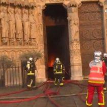 El registro de Bomberos de París del voraz incendio de la Catedral de Notre Dame