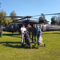 Piñera, el hoyo 9 y el helicóptero de la FACH