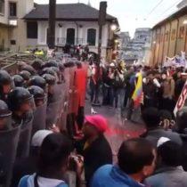 Cientos de manifestantes salieron a la calle en Ecuador para protestar por el trato de Lenin Moreno a Julian Assange