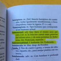 """Profesores denuncian entrega de diccionario que define homosexual como """"sodomita, pederasta y maricón"""""""