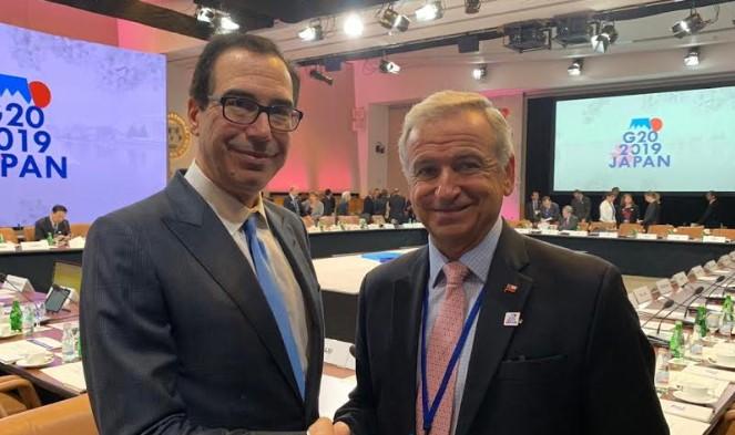 Felipe Larraín se reunió con Steve Mnuchin para abordar el tratado de doble tributación entre ambos países