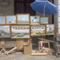 Banksy presenta sus obras en las calles de Venecia y cuestiona que nunca lo hayan invitado a la Bienal de Arte