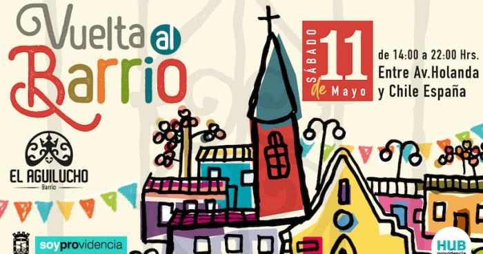 Festival Vuelta al Barrio en calle El Aguilucho