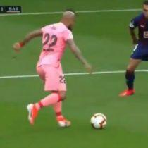 La magistral asistencia de Arturo vidal que terminó en gol de Messi para el Barcelona