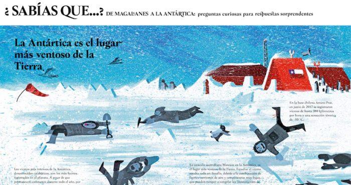 Lanzan libro ilustrado que reúne datos curiosos de la Patagonia y la Antártica