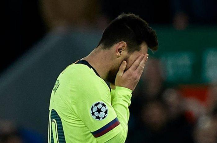 Hinchas del Barcelona increpan a Messi a su llegada tras eliminación ante el Liverpool