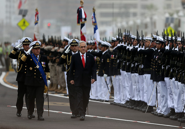 Piñera da discurso sobre patriotismo en Iquique: